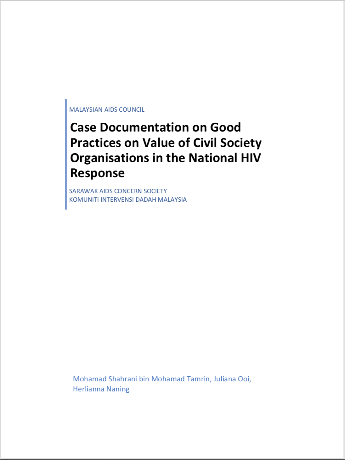 MAC: Case Documentation on Good Practices on Value of Civil